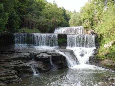 Seneca Mill Falls, Keuka Outlet Park, Yates County, New York 8-10-2013