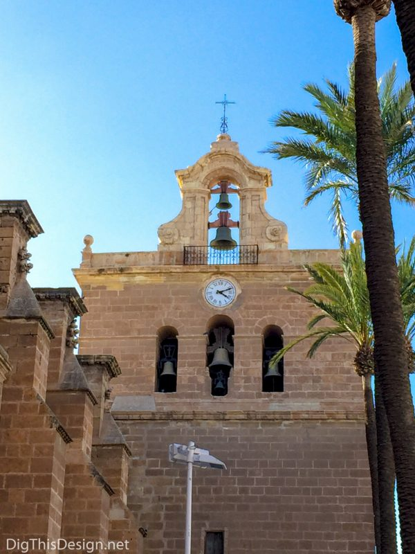 Almeria, Spain - Courtyard at the Cathedral of Almeria