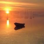både i solopgang