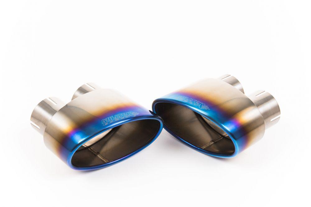burnt titanium jet oval 170 x 107 exhaust tip mstip261