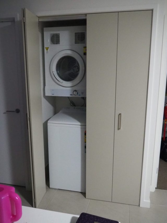 My laundry - need more space between washer and dryer
