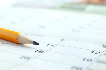 Organize uma agenda semanal