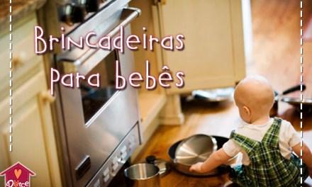Brincadeiras para bebês com o que você tem em casa