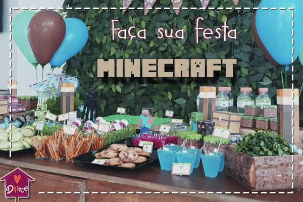 Letras Minegraft Fazendo A Nossa Festa: Faça Sua Festa Minecraft Em Casa