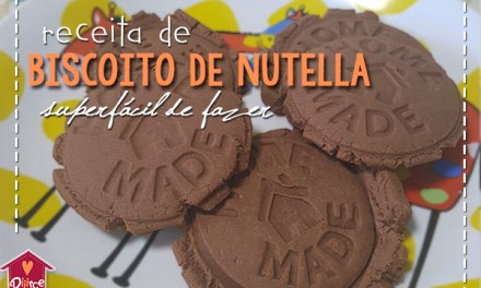 Biscoito de Nutella superfácil de fazer