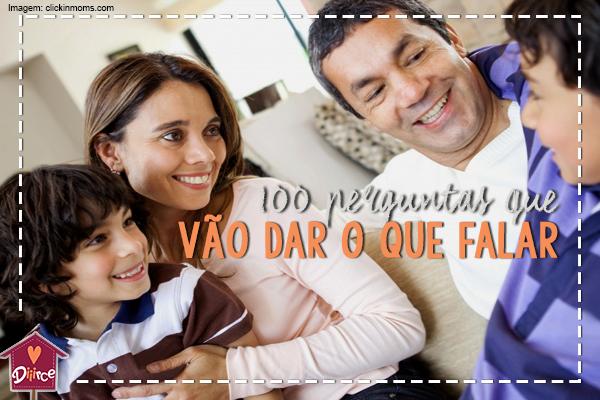 100 perguntas para você conversar com seu filho