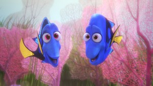procurando dory - FINDING DORY – Pictured (L-R): Jenny and Charlie. ©2016 Disney•Pixar. All Rights Reserved.