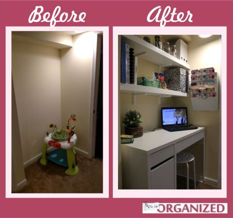 small home office organization. I Have Two Shelves, A Desk And Magazine Holder To Keep All My Papers  Supplies. Small Home Office Organization M