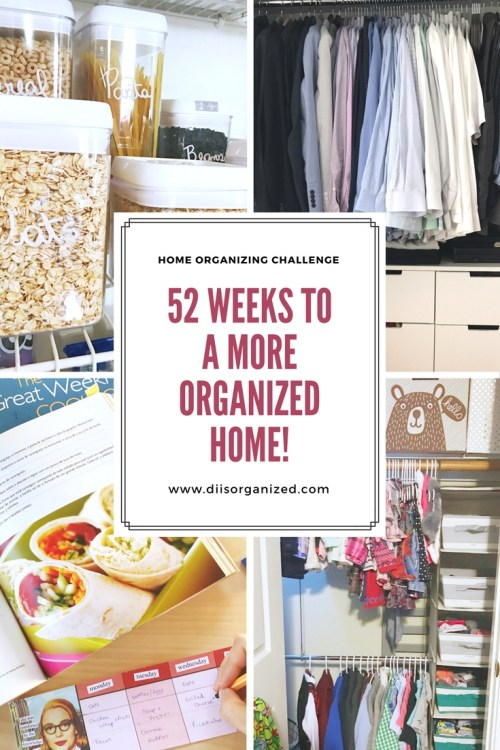 Home organizing challenge