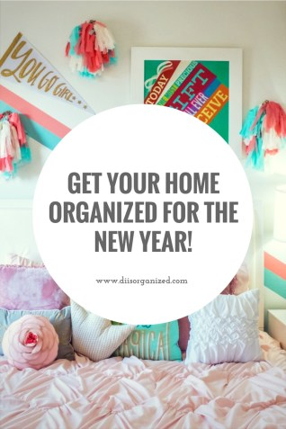 get your house organized for the new year