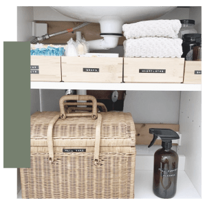 Under sink organization using products from Honey Can Do. Result from collaborations and partnerships with brands and Di is Organized - Professional Organizer - Baltimore, MD