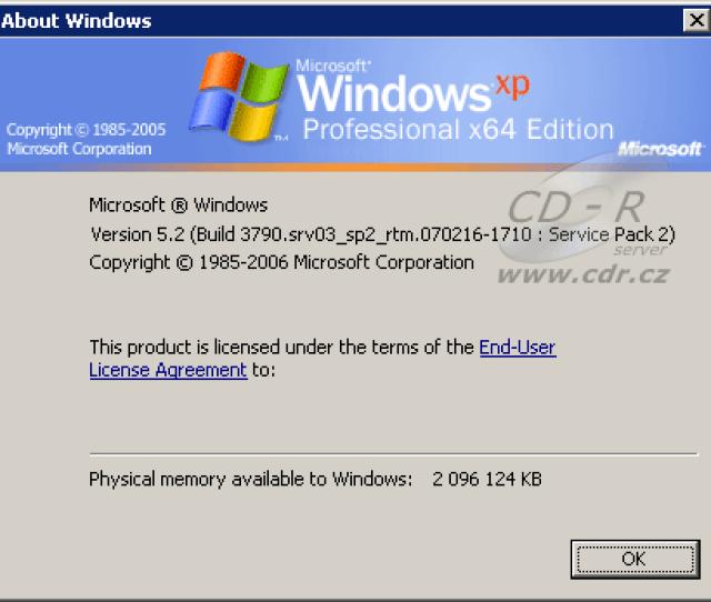 Windows Xp X64 Sp2
