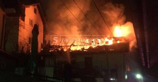 Novi detalji požara u Sarajevu: Veliki gusti dim se nadvio iznad Vratnika