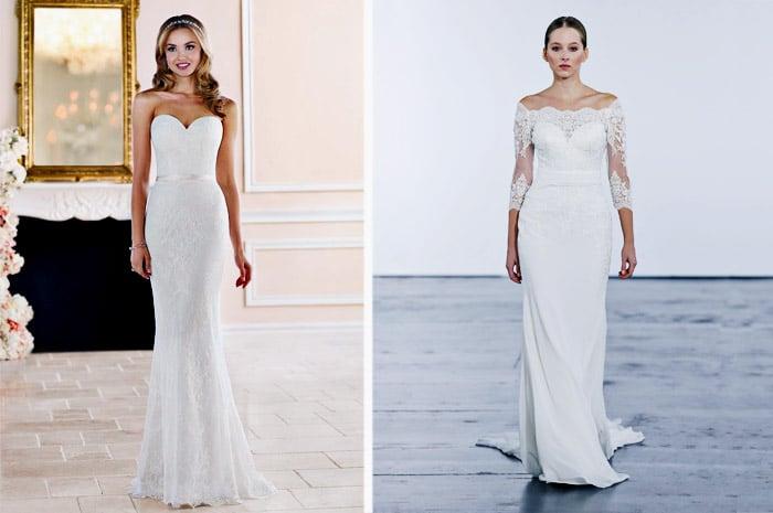 Gaun Pengantin Model Sheath Dress