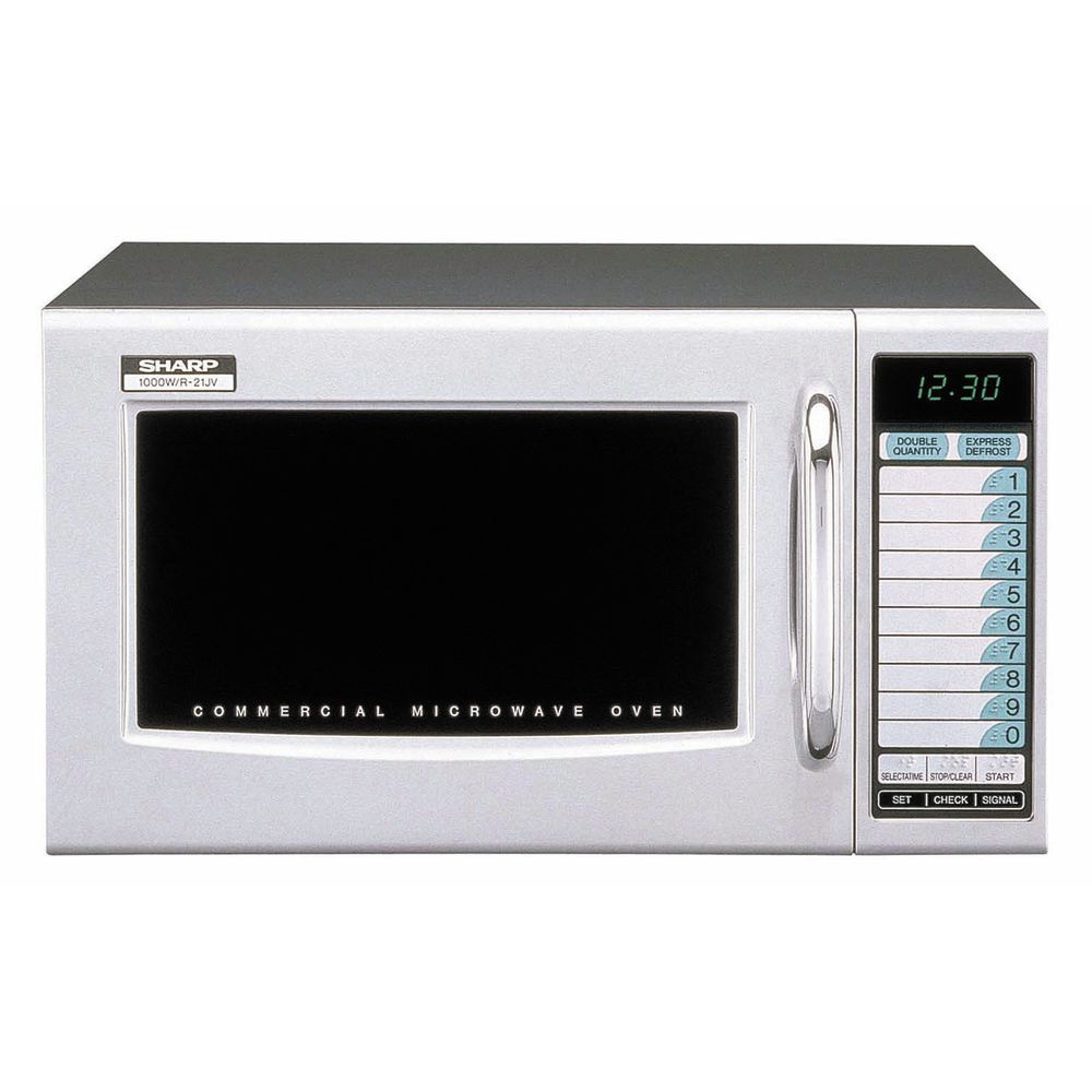 sharp r 21ltf 1000 watt medium duty commercial microwave oven with deluxe touch pad controls 20 1 2 l x 16 w x 12 1 8 h