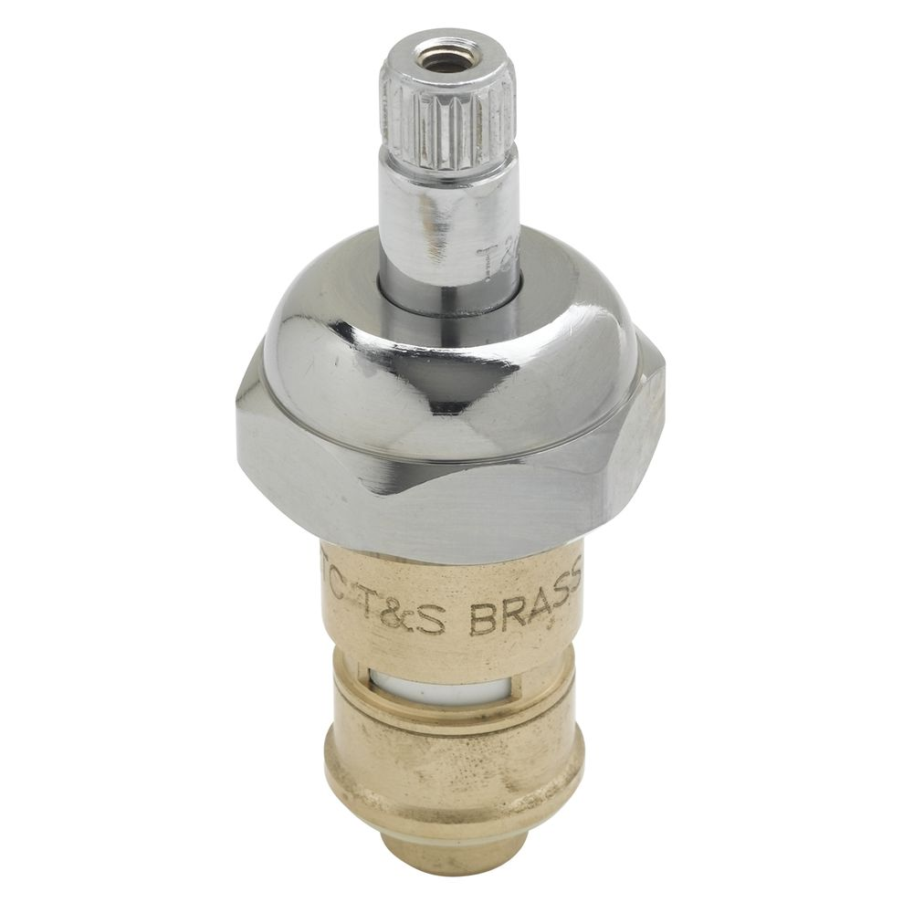 t s brass cold cerama cartridge with check valve and bonnet 1 dia x 3 h