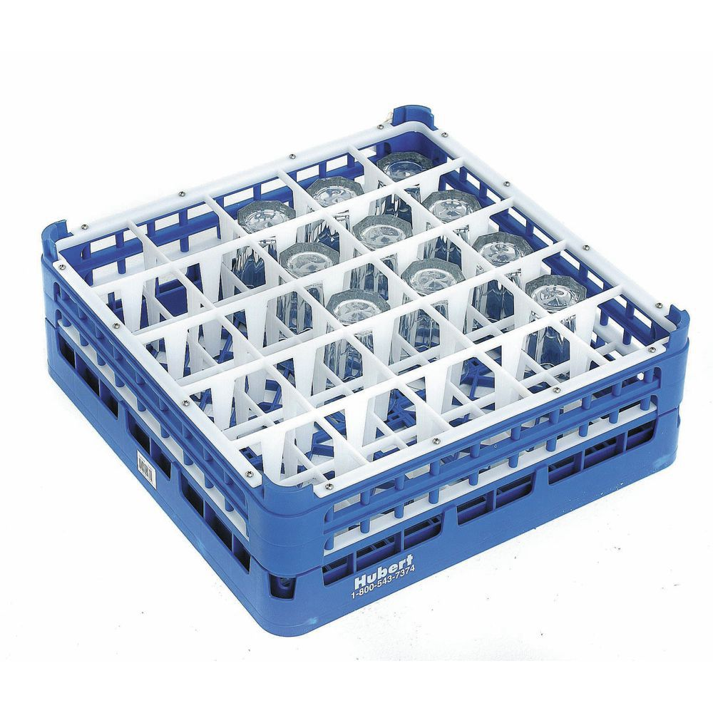 vollrath royal blue plastic 25 compartment dishwasher glass rack with 8 1 2 maximum height 19 3 4 l x 19 3 4 w x 9 7 8 h