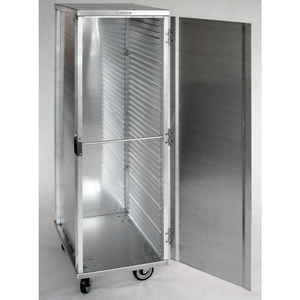 hubert aluminum full size enclosed pan rack 27 l x 21 w x 68 h