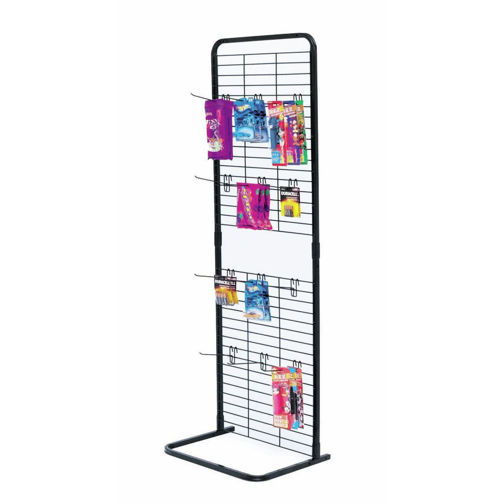 black metal display rack hooks 6 l