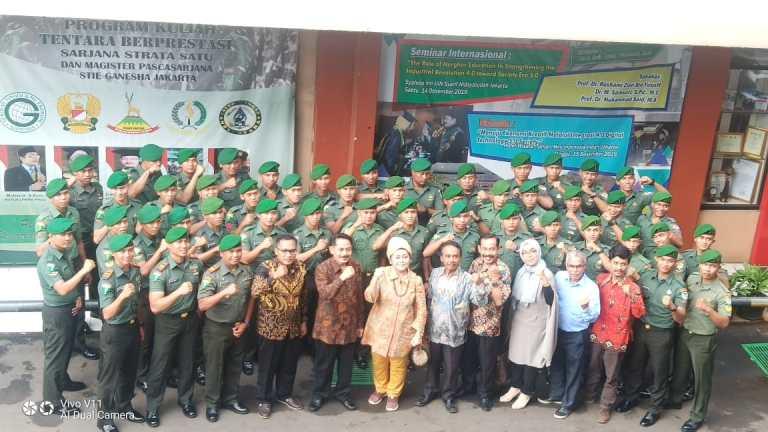 Kuliah Perdana Program Kerjasama STIE Ganesha dan Batalyon Infanteri 310 Kidang Kancana, Membantu Program Pendidikan Tinggi di Lingkungan TNI