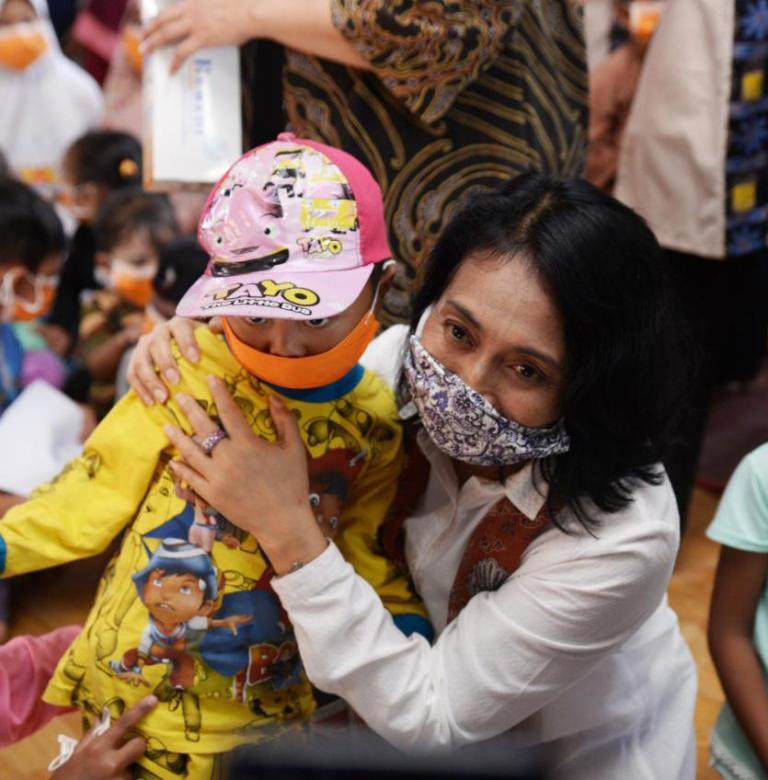 Kemen PPPA Peduli Anak-anak Korban Bencana di Lebak