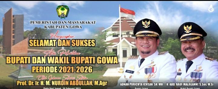 Adnan-Kio, Bupati dan Wakil Bupati Gowa Periode 2021-2026