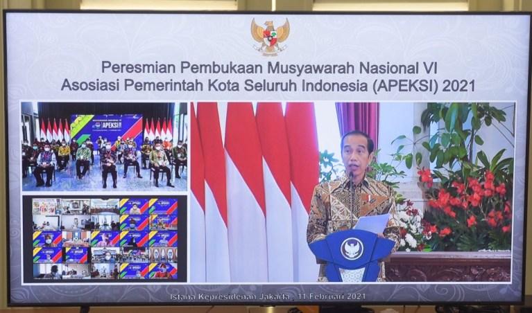 Buka Munas Apeksi, Presiden: Masih Banyak yang Bisa Dilakukan Oleh Pemerintah Kota