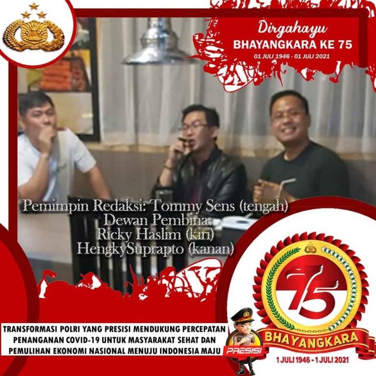 Pemimpin Redaksi dan Dewan Pembina Dikabari.com Mengucapkan Selamat Hari Bhayangkara Indonesia ke-75