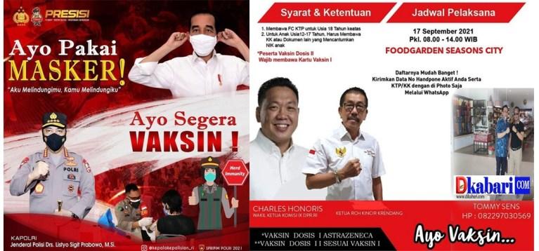 Pimred Dikabari.com Bersama Tim Relawan RCH Akan Adakan Vaksinasi Massal pada 17 September 2021 di Food Garden Seasons