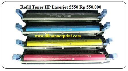 Harga Refill Toner C9730A ( HP Color Laserjet 5550 )