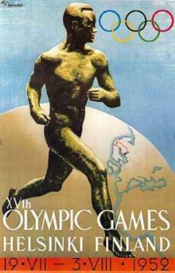 [Plakat der Olympischen Sommerspiele 1952 in Helsinki]