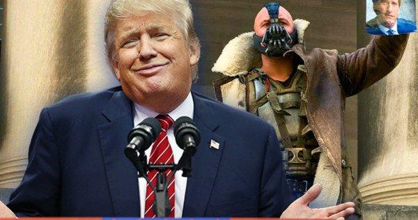 Donald Trump Bane'nin Konuşmasını Taklit Etti