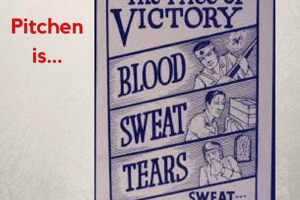 'Pitchen is bloed zweet en tranen'