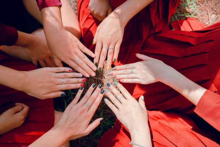 photo of women s hands