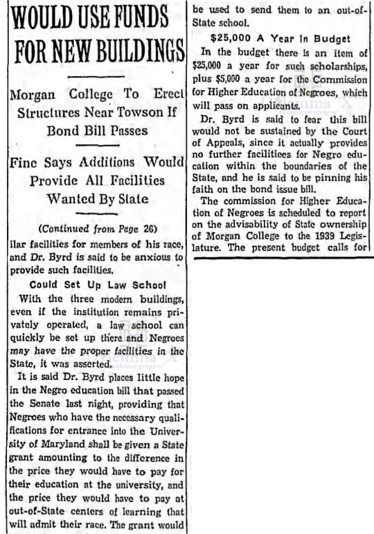 Yesteryear: A historical look back to when Morgan State ...