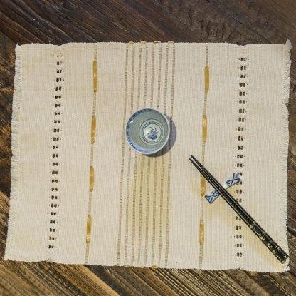 Individual en algodón bordado con cinta