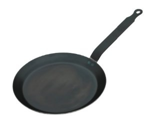 HIC Crepe Pan, Blue Steel, Made in France