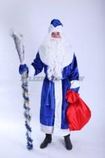 3674. Дед Мороз в синей шубе
