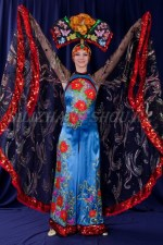 2172. Китайский костюм женский (Бабочка)