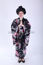 33643. Японское кимоно в тёмных тонах