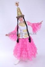 0052. Казахский подростковый костюм с баской розовый