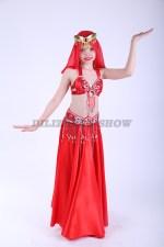 33297. Детский костюм для восточных танцев. Красный.