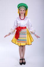 4058. Белорусский народный костюм для девочки с короткой юбочкой