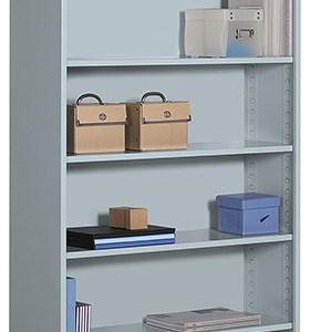 "72"" Metal Bookcase"