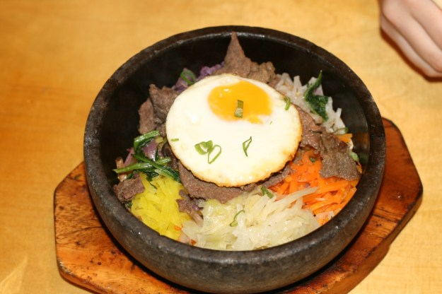 Bibimbap rice bowl