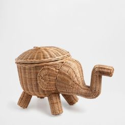 Unisex kids room Boho zara home elephant basket