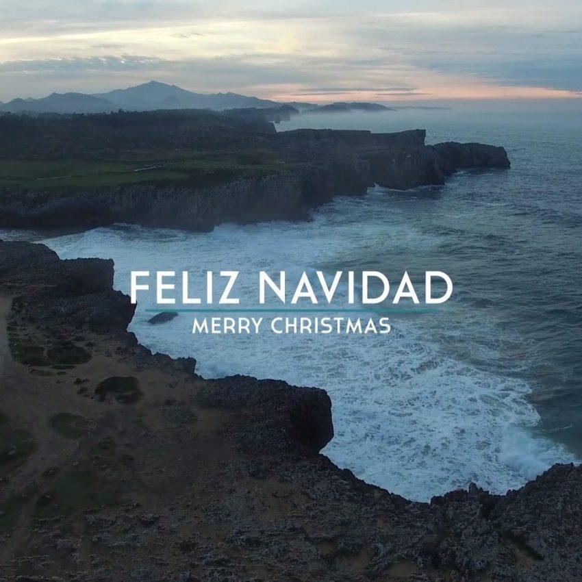 Felicitación navideña con vídeo aéreo de Asturias