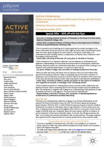 Active Intolerance-DiscountFlyer