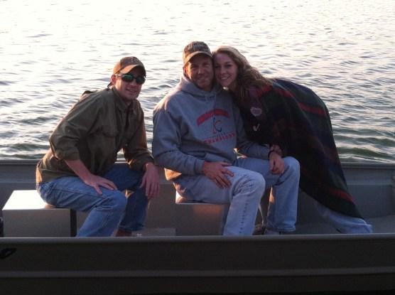 Matt, his dad, and his sister