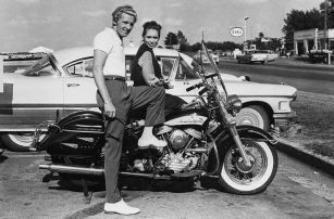 Jerry Lee Lewis with His Young Wife